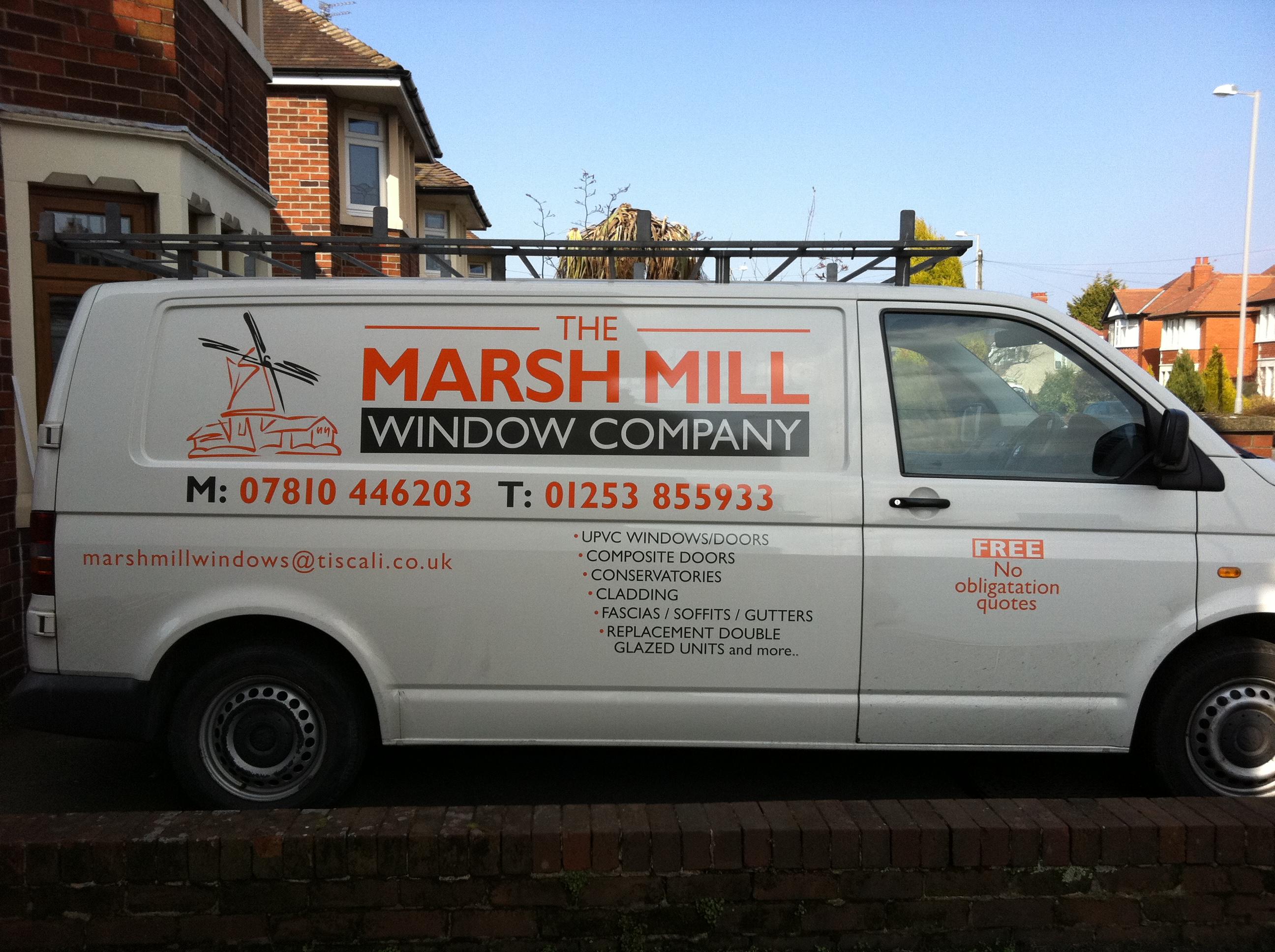 bc3fff6e8fc029 Van vinyl graphics for Marsh Mill Window Compnay.  Rob2018-05-15T13 15 20+01 00