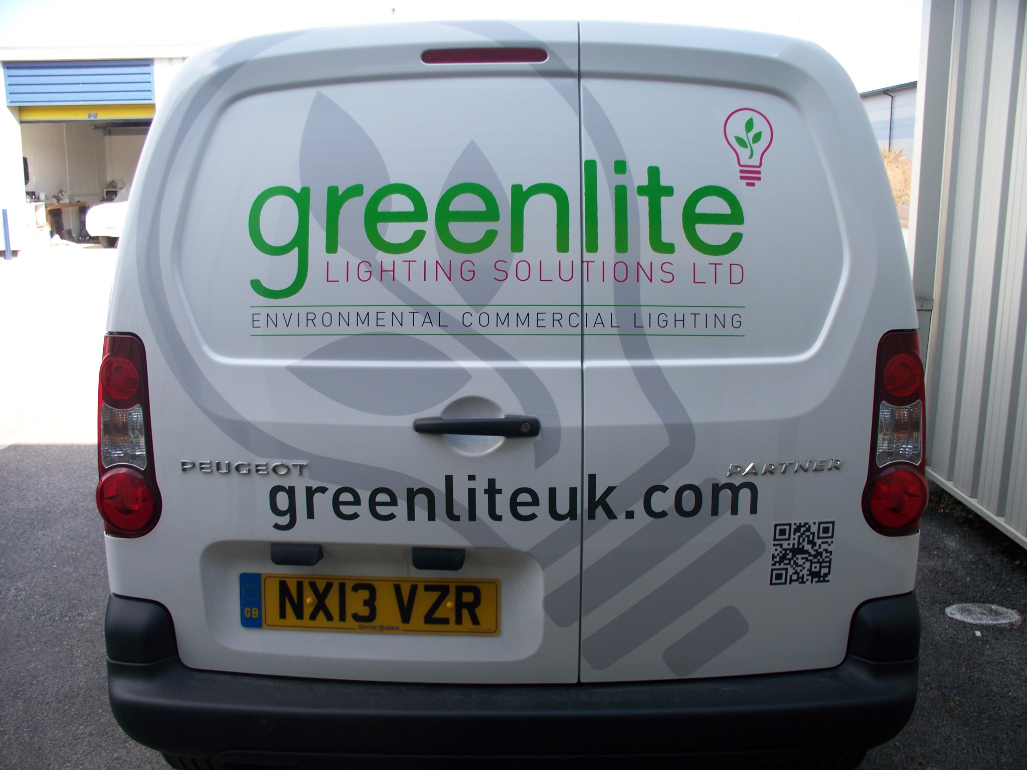 Van Lettering Part Of A Fleet For Greenlite Lighting & Greenlite Lighting Solutions - Democraciaejustica